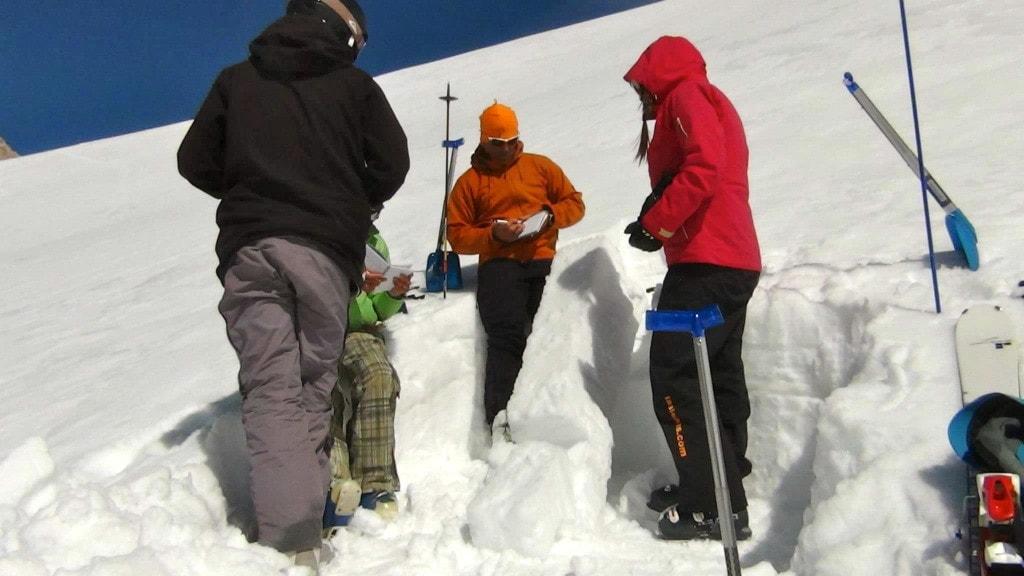 Ski and Snowboard avalanche