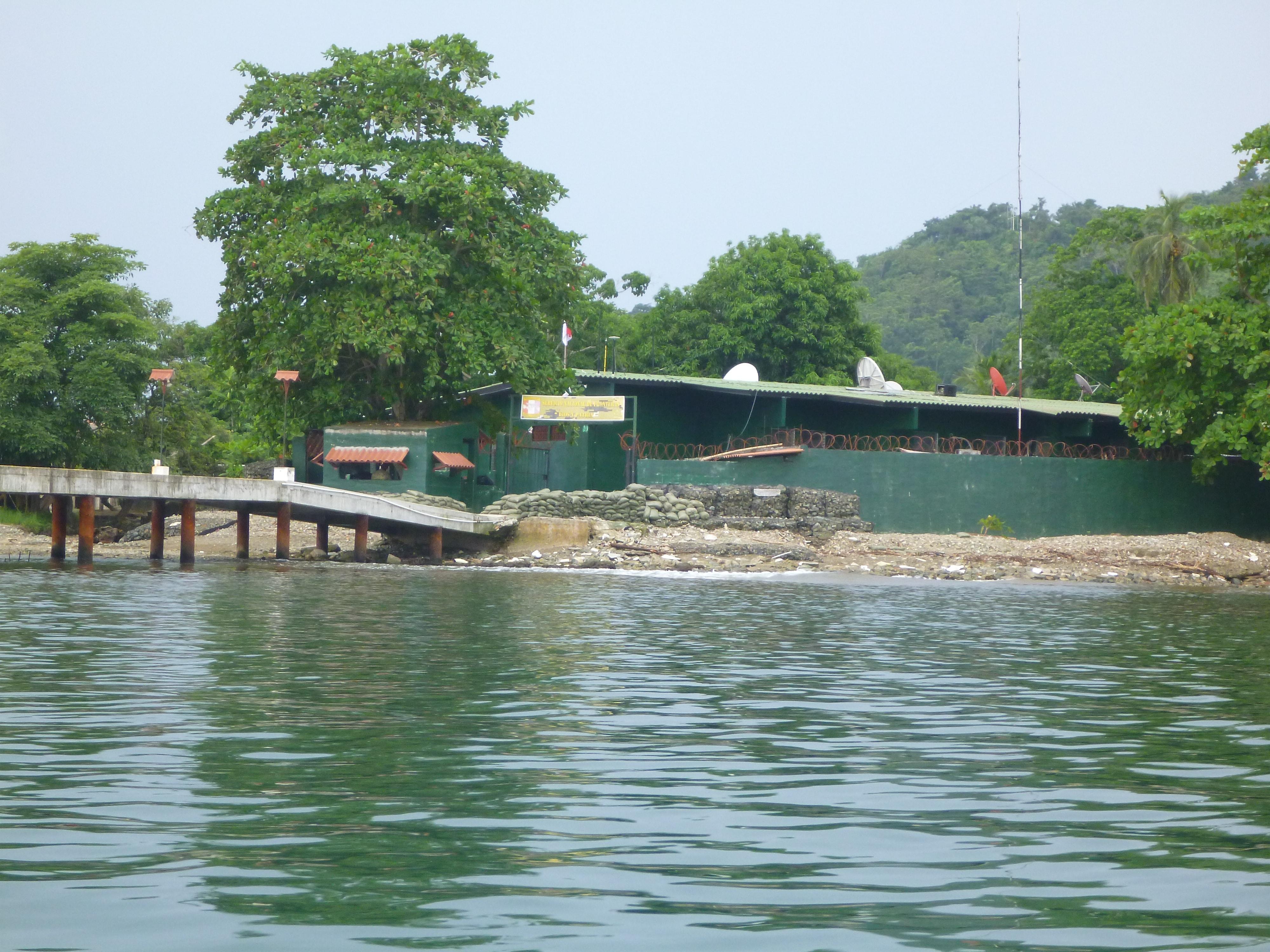 Panamanian military base in Puerto Obaldia