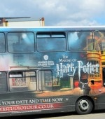 Harry Potter Universal Studios bus in London