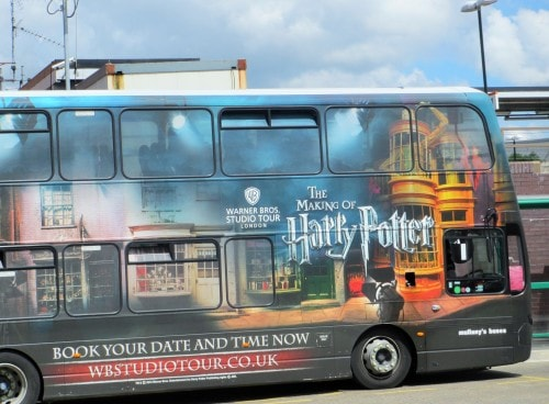 Harry Potter Universal Studios bus in London