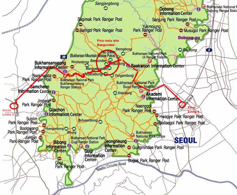 Mapa para Bukhansan