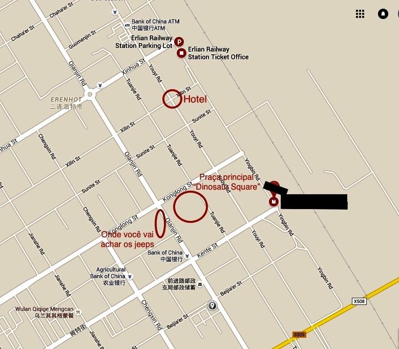 Erlian Erenhot Jeep mapa