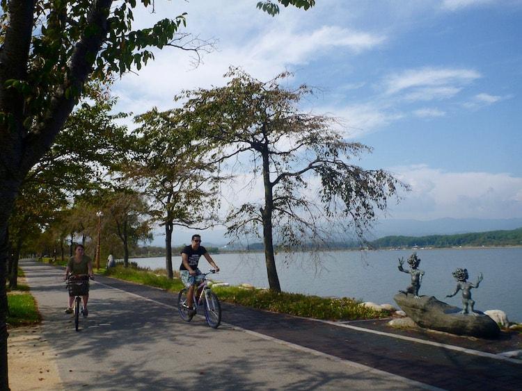 Lago em Gangneung, Coreia do Sul