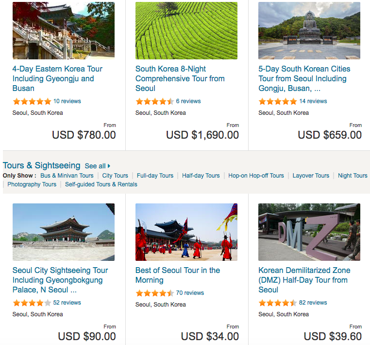 best attractions in South Korea