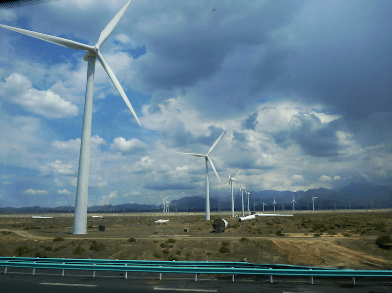 Wind Turbines Farm in China