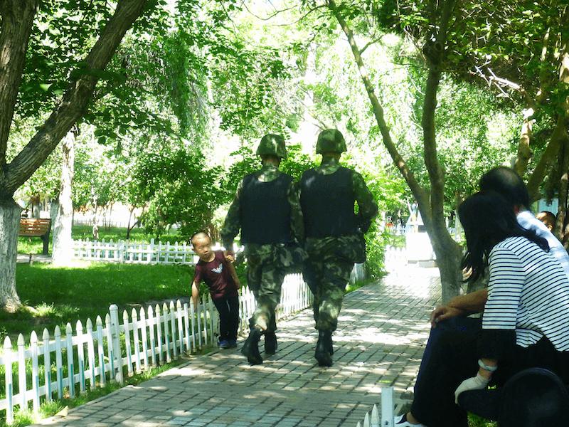 Soldados militares da China
