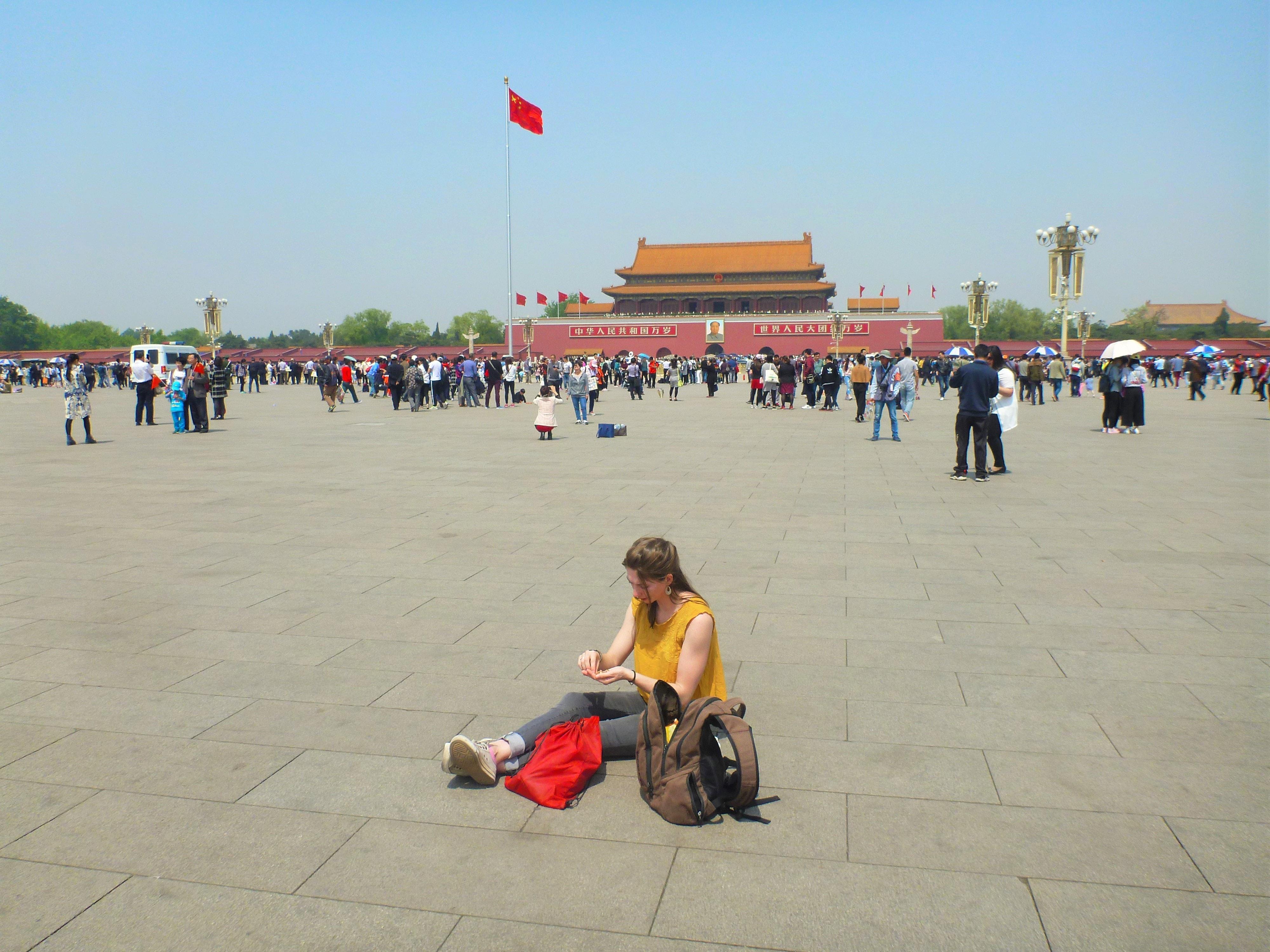 Praça da Paz Celestial (Tiannamen Square) na China