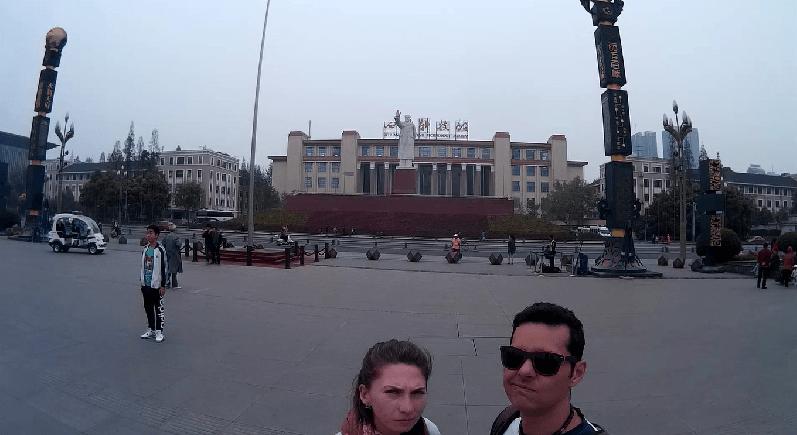 estátua de Mao Chengdu na China