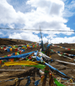 Prayer Flags Litang Tibet China