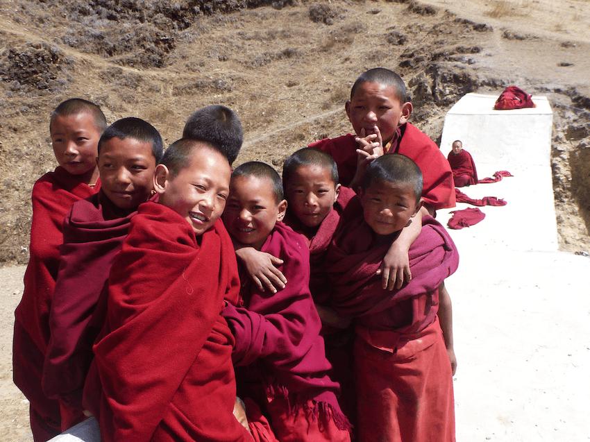 Litang Chode Monastery Monks Tibet China