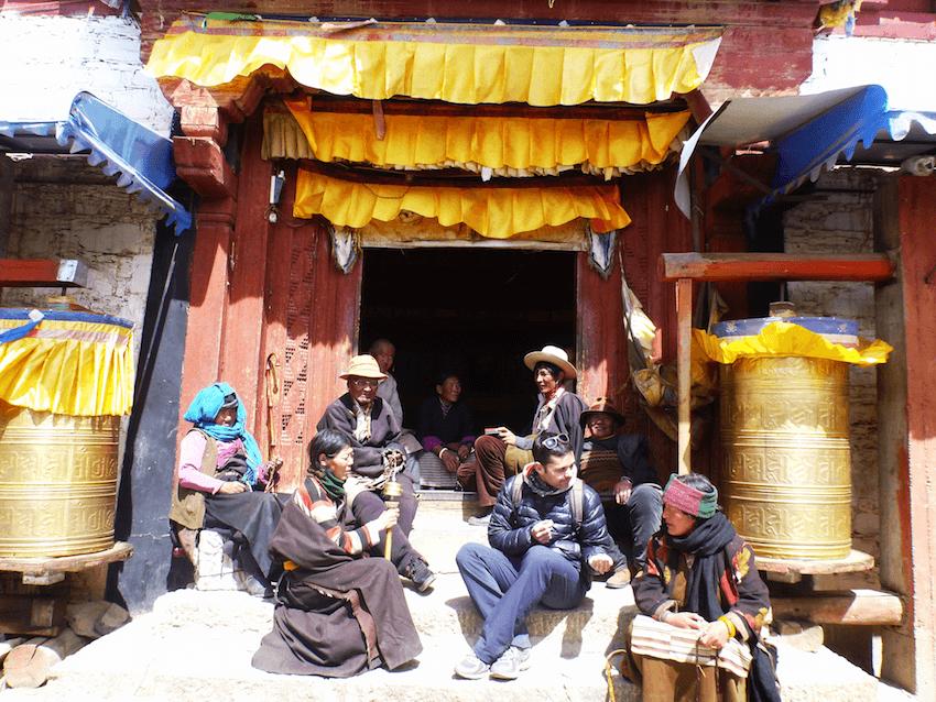 Litang Tibet China locals