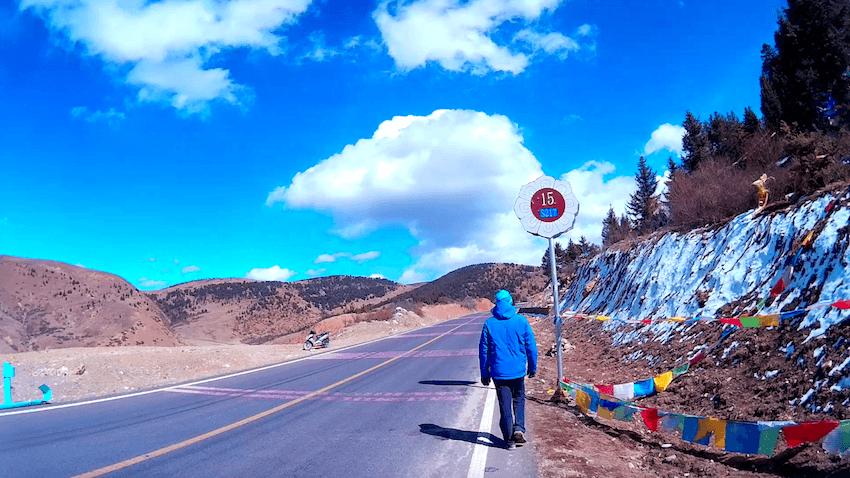 Montanha Sagrada em Litang Tibete China