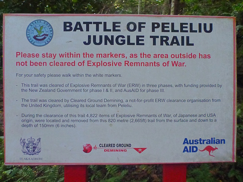 Mines and Explosives Peleliu Palau