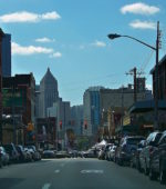 "View of downtown from the ""Strip District"" Pittsburgh"