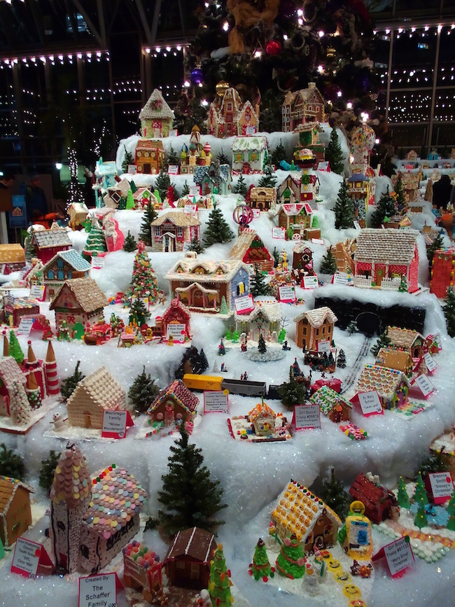 A gingerbread house competition for Christmas! Pittsburgh