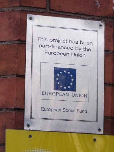 European Union Project Sign
