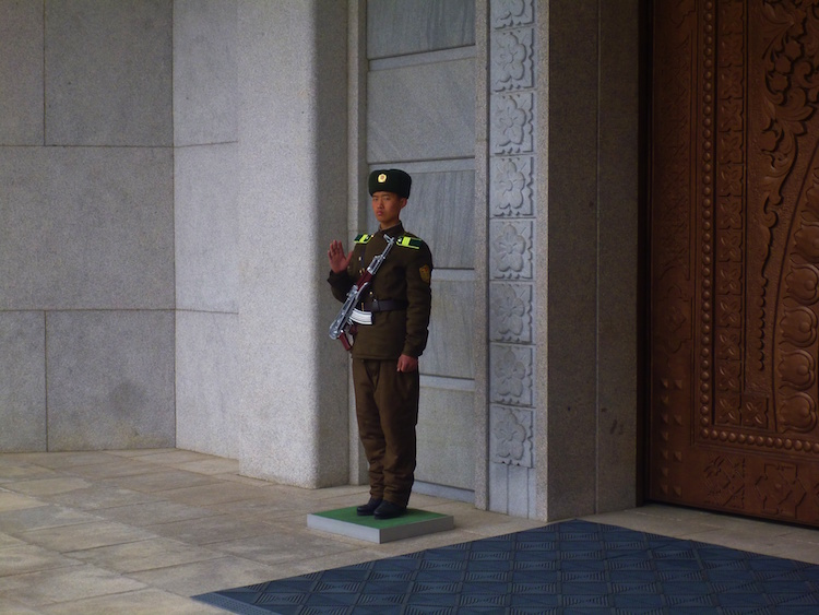 Angry North Korean Soldier