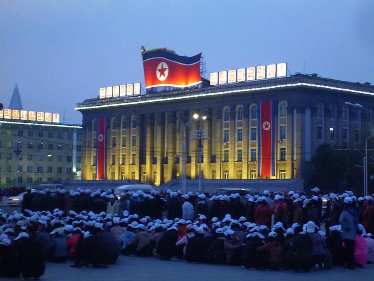 Praça central Pyongyang Coreia do Norte