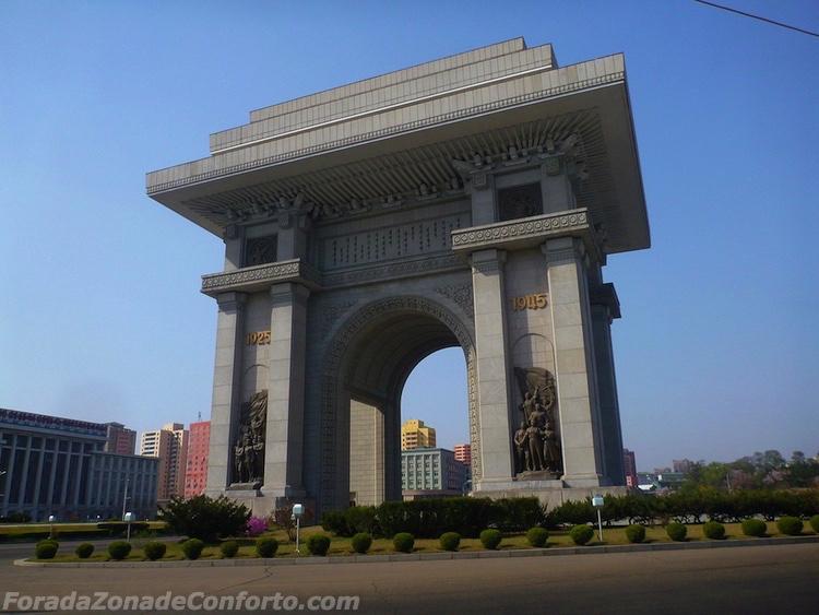 Arco do triunfo de Pyongyang Coreia do Norte