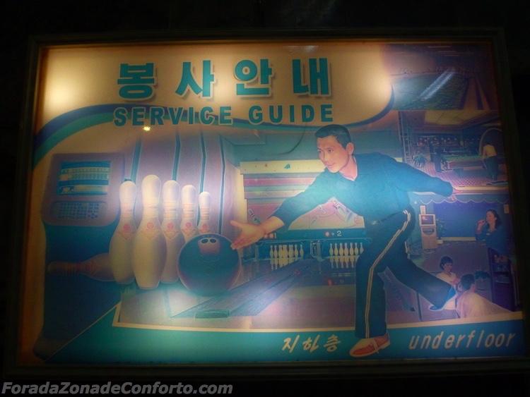 boliche no Yanggakdo Hotel Pyongyang Coreia do Norte