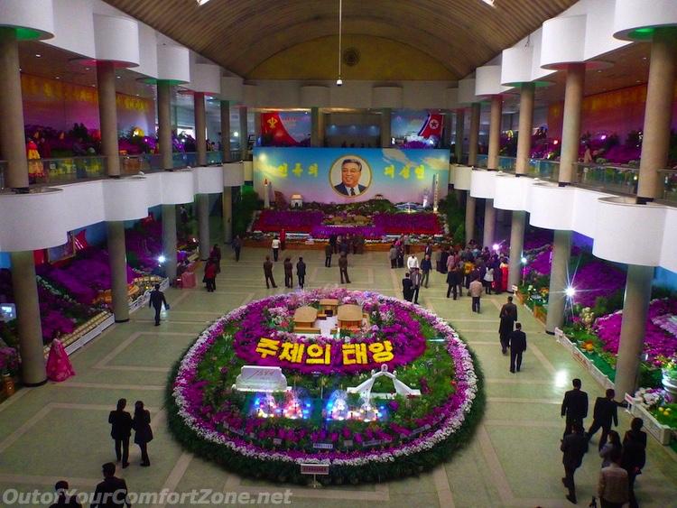 Kim il-Sung's birthday flower extravaganza
