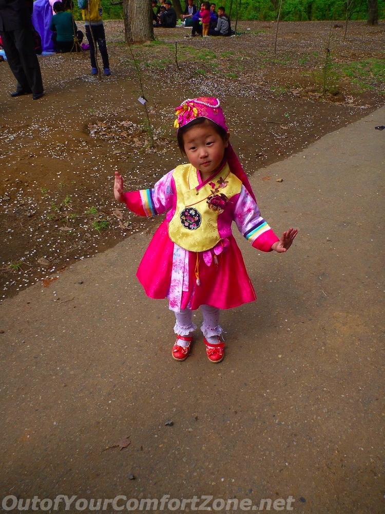 North Korea child Pyongyang park