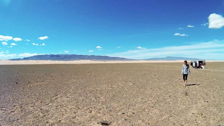 Mongolia open space Gobi Desert van tour