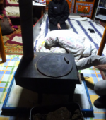 Mongolia inside ger stove