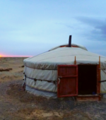 sunset ger mongolia