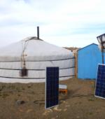 Mongolia ger solar panels