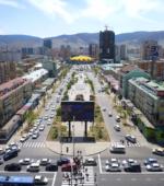 Mongolia Ulaanbaatar view downtown