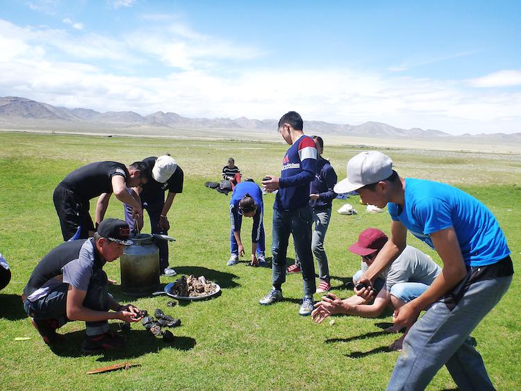 Mongolia high school students animal slaughter
