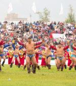 Mongolia Naadam wrestlers