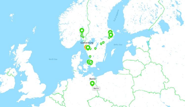 Flixbus destinations out of Gothenburg