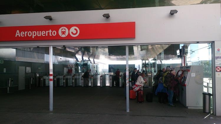 Train Station entrance at Malaga's Airport