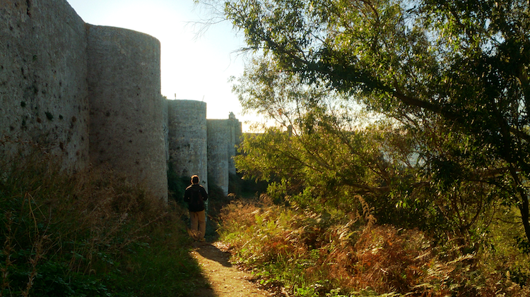 Ceuta's fortress on Mount Hacho Walls