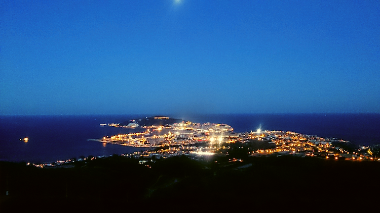 View of Ceuta from top of San Isabel II Overlook