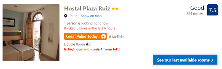 Good hotel in Ceuta
