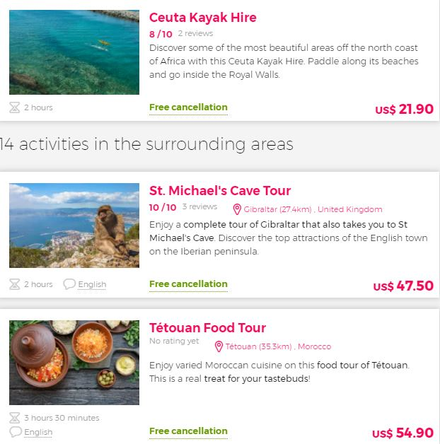 Best attraction Ceuta