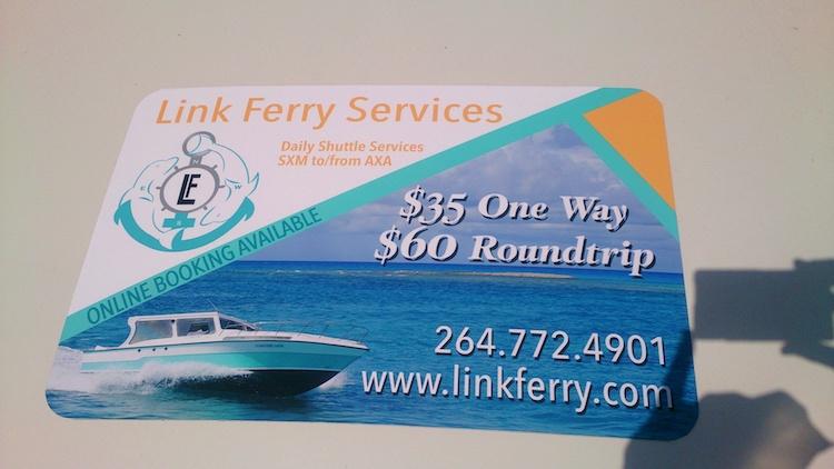 Fast boat between Saint Martin and Anguilla