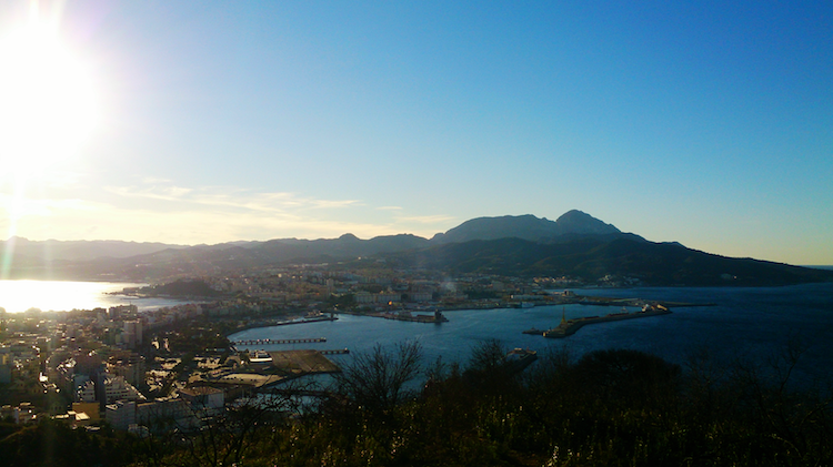 Ceuta Spain view from fortress