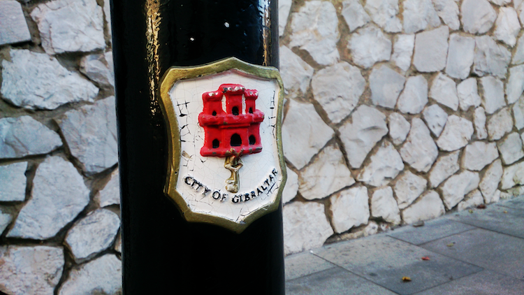 city of Gibraltar cute sign castle