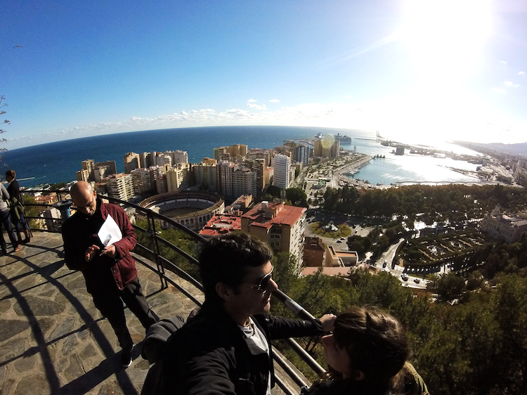 Malaga Spain viewpoint castle de gibralfaro
