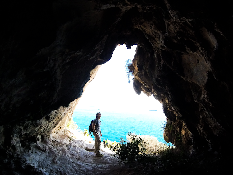 view from Gibraltar rock Mediterranean steps trail cave