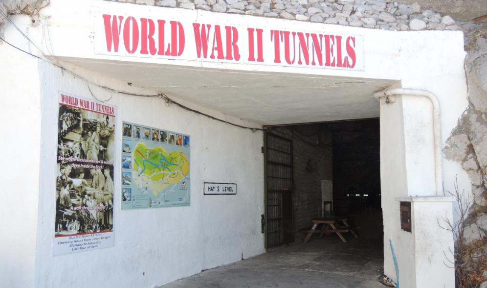 Gibraltar World War II Tunnels Entrance
