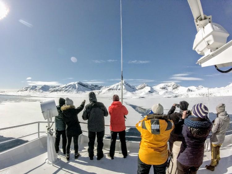 Svalbard Norway Fjord Scenery Boat Ride Henningsen search for polar bears