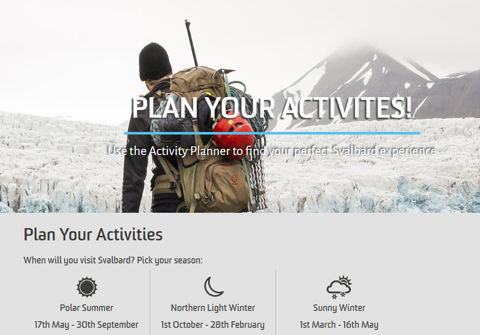 What to do in Svalbard activities