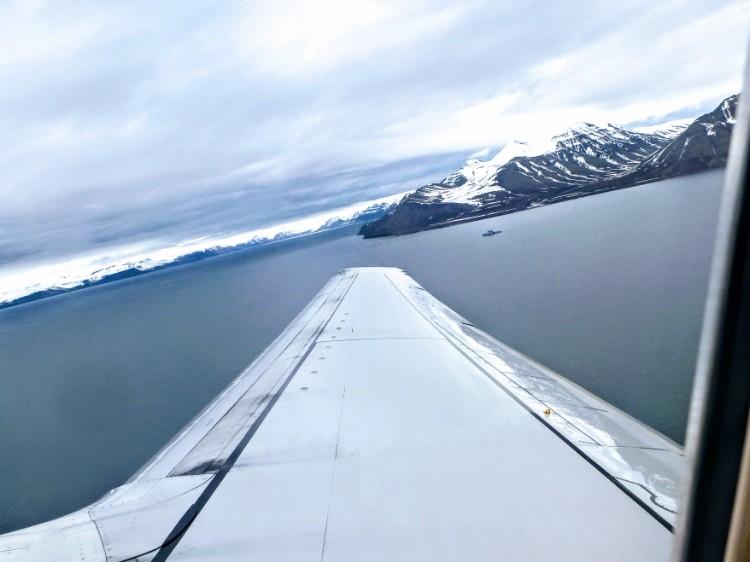 Plane aerial view Svalbard