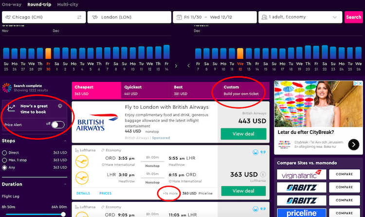 Best and cheapest flights