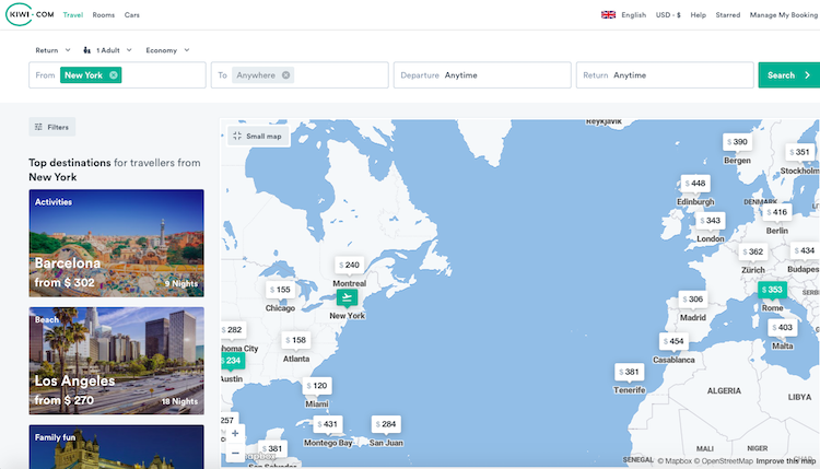 Cheap flights from NYC